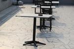 Черна стойка за Вашата маса, от високоустойчиви материали