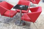 стойки за бар маса с кръгла основа за кафене