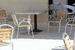 Основа за маса с квадратна основа за кафене