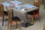 основа за бар маса с квадратна основа за кафене