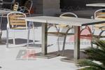 основа за бар маса с квадратна основа за заведение