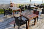 Универсален стол и маса от пвц ратан за всесезонно използване