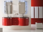 с механизъм шкафове за баня с водоустойчиви полиуретанови лакове влагоустойчиви