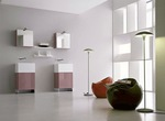 висококласни шкафове за баня с водоустойчиви полиуретанови лакове с красив дизайн