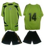 Екип за футбол/ волейбол/ хандбал фланелка с шорти оранжев с черно MAXIMA