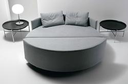 кръгла спалня с нестандартен дизайн
