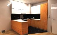 Кухня с вграден хладилник