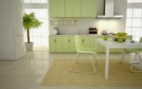 кухня в зелено-