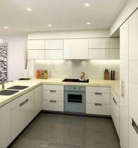 кухня с технически камък и мдф