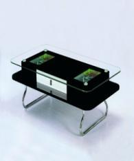 Холна маса със стъкло в черно