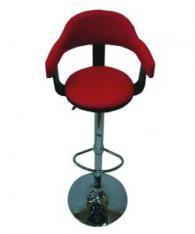 Бар стол в черно и червено