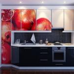 Кухня по поръчка с ъглов шкаф МДФ гланц