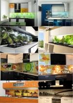 Проекти на кухни с принт стъкла