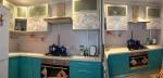 Проект а кухня с ПДЧ тюркоаз и полиглос