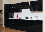 Кухненски мебели ПДЧ супер гланц в черно