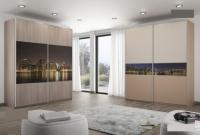 Гардероби с комбинация ПДЧ и принт стъкло за къщи