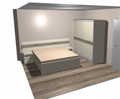 Спалня по поръчка с две нощни шкафчета