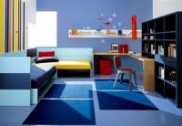 детска стая в син цвят за две деца