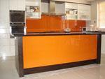 Кухня в оранжево и венге