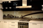 Кухня принт стъкло