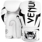 Боксови Ръкавици - VENUM ELITE BOXING GLOVES - WHITE/BLACK