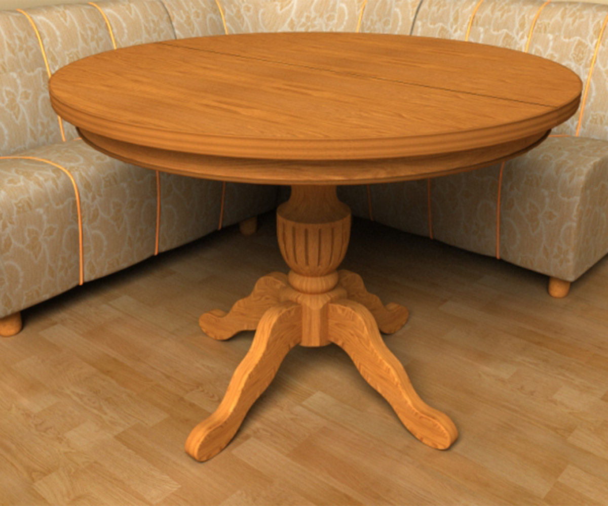Кръгла маса за трапезария и кухня Росица – Стил