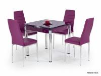 Трапезарна маса със стъкло  KENT-лилаво