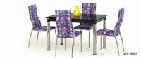 Разтегателна трапезарна маса със стъкло  L-31