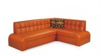 Оранжев ъглов диван