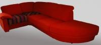 Дизайнерски червен диван 28059-3375