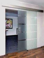 модерна стъклена врата 1510-3577