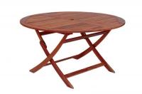 Сгъваема кръгла маса от евкалипт