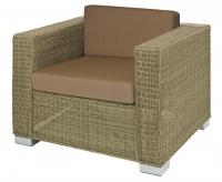 Кресло от синтетичен ратан с възглавници