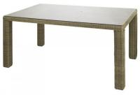 Правоъгълна маса от ратан