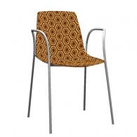 Модерен стол черно и бежаво