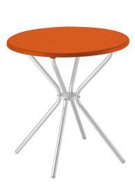 Разглобяема кръгла маса в оранжево