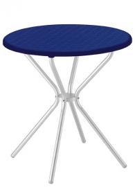 Разглобяема кръгла маса в синьо