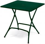 Сгъваема метална маса в тъмно зелено