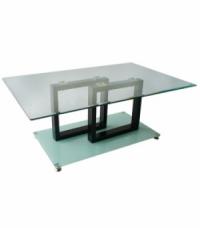 Стъклена маса с МДФ квадрати