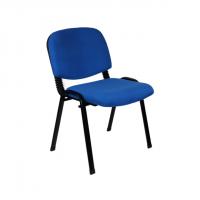 Офис стол посетителски метални крака в синьо