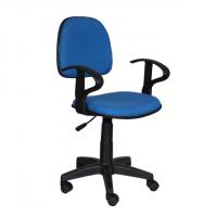 Работен офис стол,текстил,син
