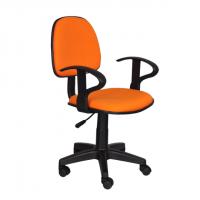 Работен офис стол,текстил,оранжев