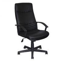 Директорски офис стол в черна еко кожа