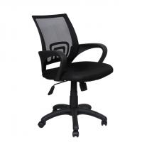 Мрежест директорски офис стол в черно