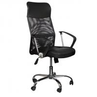 Директорски стол с черна мрежа