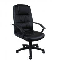 Офис стол с висока облегалка в еко кожа