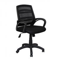 Мрежест офис стол в черно