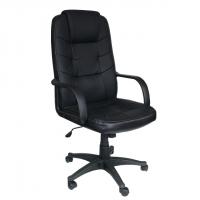 Президентски стол с черна еко кожа