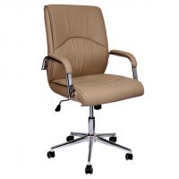 Президенстки стол с висока облегалка в бежаво