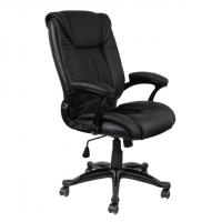 Луксозен директорски стол черен